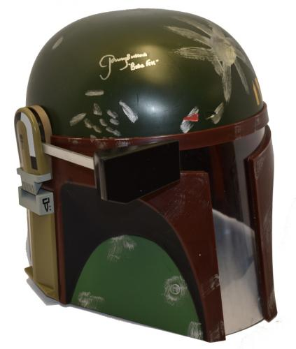 Jeremy Bulloch Signed Boba Fett Helmet Star Wars Autograph Proof Beckett Coa B