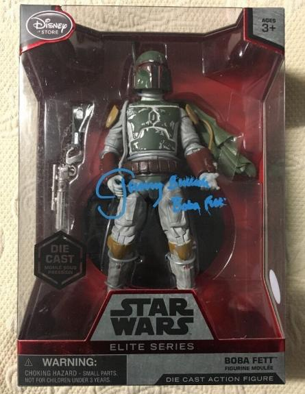 Jeremy Bulloch Signed Disney Star Wars Elite Series Boba Fett Figure Jsa Coa