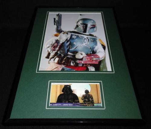 Jeremy Bulloch Signed Framed 11x17 Photo Set Star Wars Boba Fett