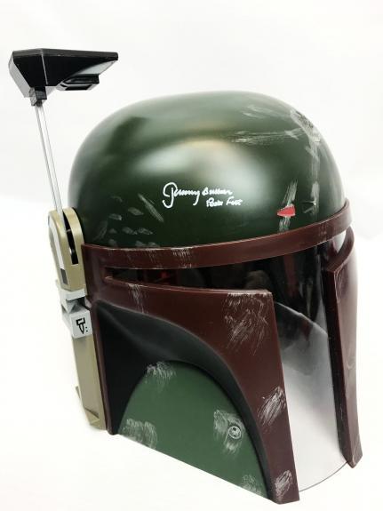 Jeremy Bulloch Signed Full Size Star Wars Boba Fett Helmet BAS COA