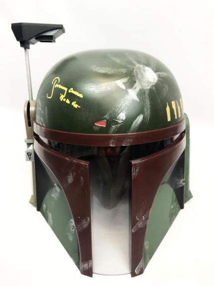 Jeremy Bulloch Signed Full Size Star Wars Boba Fett Helmet BAS COA SW2