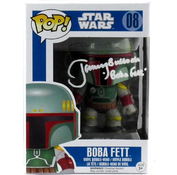 Jeremy Bulloch Signed Funko Pop Star Wars Boba Fett #08 Vinyl Bobble Head Figure