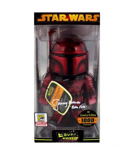 Jeremy Bulloch Signed Funko Pop Star Wars Boba Fett Hikari Red Figure - Limited Edition 1000