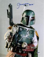 "JEREMY BULLOCH Signed STAR WARS ""Boba Fett"" 11x14 Photo BECKETT BAS #C83406"