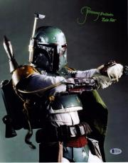 "JEREMY BULLOCH Signed STAR WARS ""Boba Fett"" 11x14 Photo BECKETT BAS #C83446"