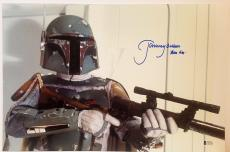 "JEREMY BULLOCH Signed STAR WARS ""Boba Fett"" 12x18 Photo BECKETT BAS # C83496"