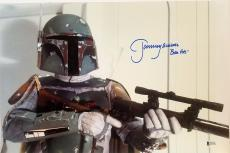 "JEREMY BULLOCH Signed STAR WARS ""Boba Fett"" 12x18 Photo BECKETT BAS # C83497"
