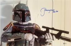 "JEREMY BULLOCH Signed STAR WARS ""Boba Fett"" 12x18 Photo BECKETT BAS # C83500"