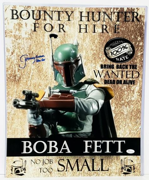 "JEREMY BULLOCH Signed STAR WARS ""Boba Fett"" 16x20 Photo JSA Witnessed #WP234379"