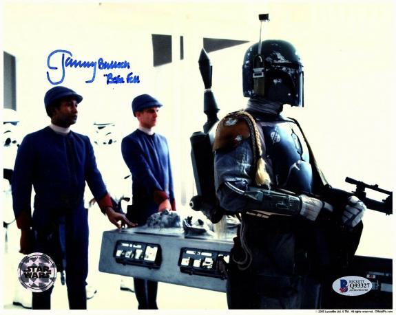 "JEREMY BULLOCH Signed STAR WARS ""Boba Fett"" 8x10 Official Pix Photo BAS #Q93327"