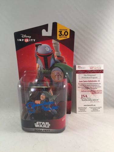 Jeremy Bulloch Signed Star Wars Boba Fett Disney Infinity Figure Jsa 4