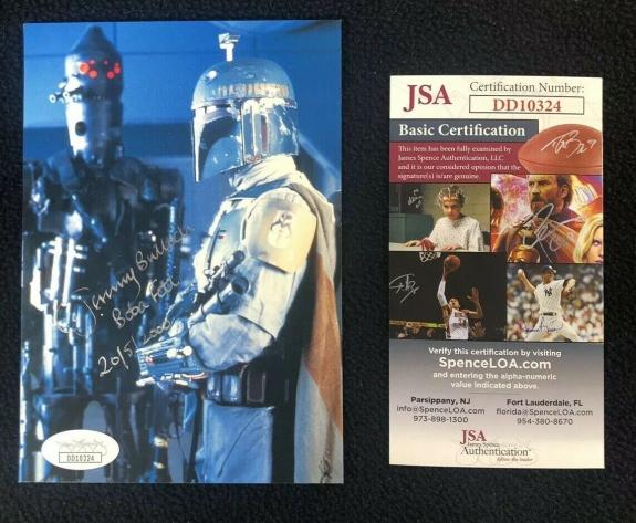 Jeremy Bulloch Signed Star Wars Boba Fett Postcard JSA Authenticated