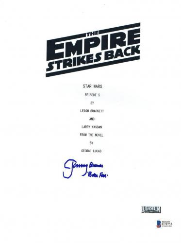 Jeremy Bulloch Signed Star Wars Empire Strikes Back Script Boba Fett Beckett Coa