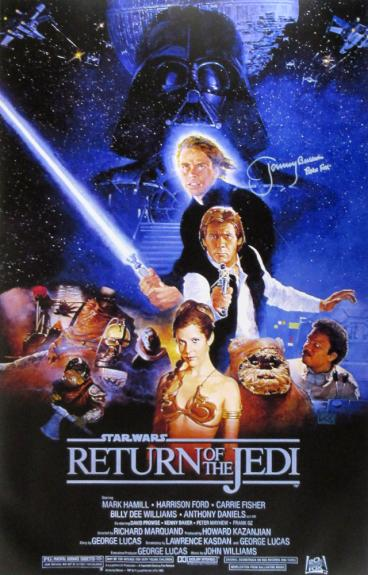 Jeremy Bulloch Signed Star Wars Return of the Jedi 24×36 Movie Poster