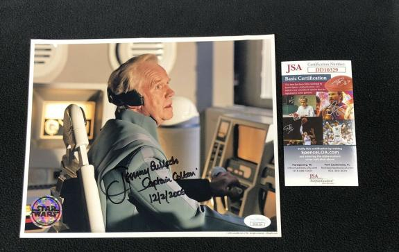 Jeremy Bulloch Signed Star Wars Revenge Of Sith Colton 8x10 Photo JSA Boba Fett