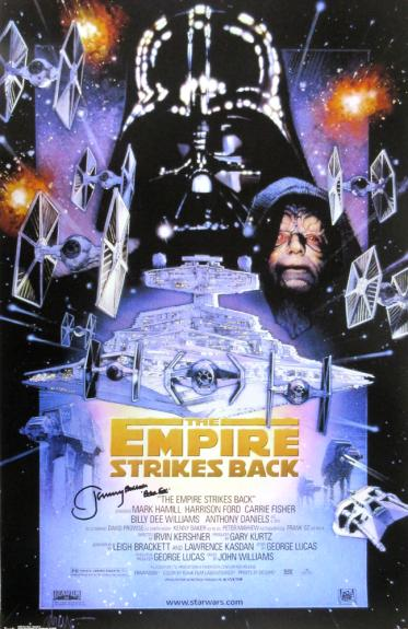 Jeremy Bulloch Signed Star Wars The Empire Strikes Back 24×36 Movie Poster