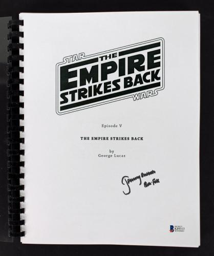 Jeremy Bulloch Signed Star Wars The Empire Strikes Back Movie Script BAS