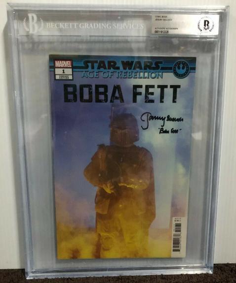 Jeremy Bulloch Signed Stars Wars Boba Fett Comic Book Beckett Slabbed 10