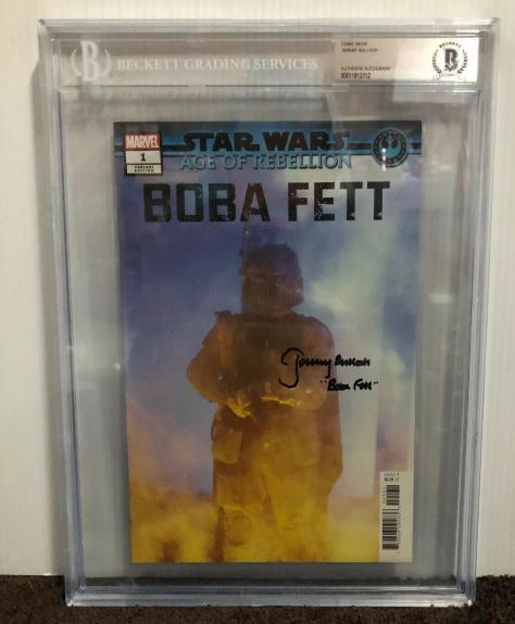 Jeremy Bulloch Signed Stars Wars Boba Fett Comic Book Beckett Slabbed 5