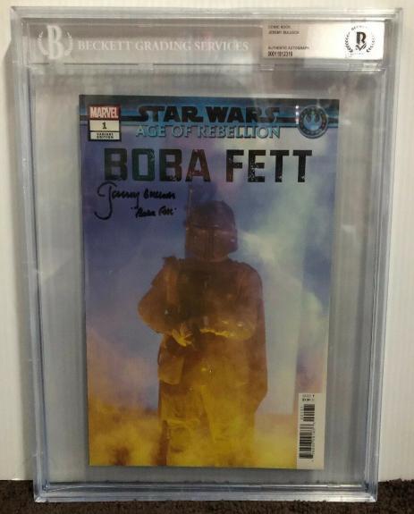 Jeremy Bulloch Signed Stars Wars Boba Fett Comic Book Beckett Slabbed 7