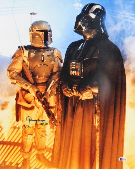 "Jeremy Bulloch Star Wars ""Boba Fett"" Signed 16x20 Vertical Photo BAS Witnessed 3"