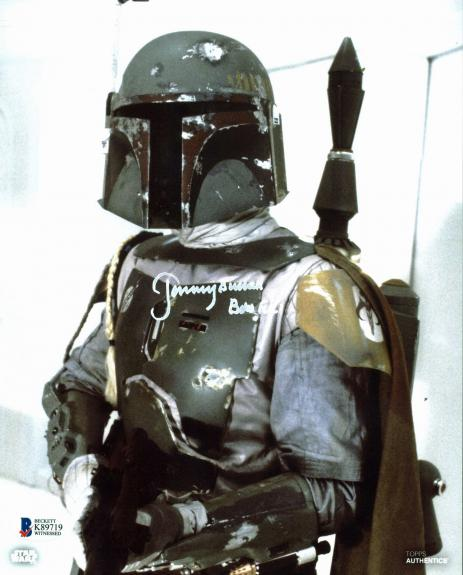 "Jeremy Bulloch Star Wars ""Boba Fett"" Signed 8x10 Topps Photo Autographed BAS 6"