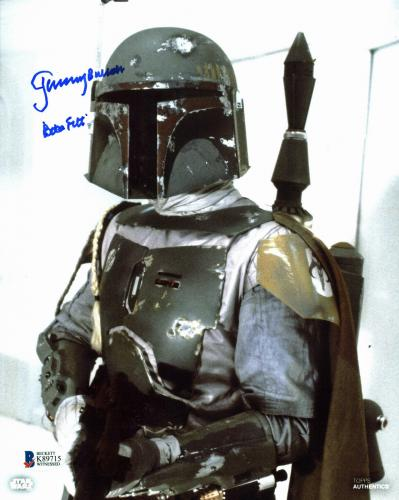 "Jeremy Bulloch Star Wars ""Boba Fett"" Signed Topps 8x10 Photo BAS #K89715"
