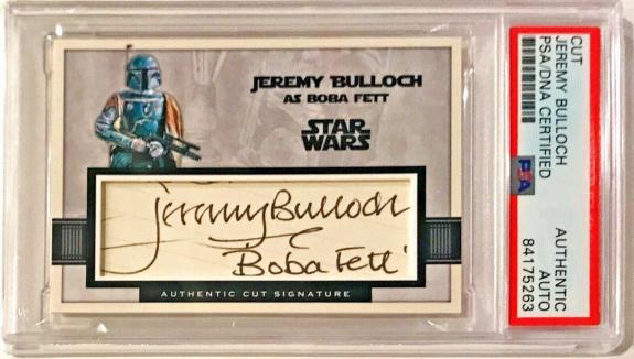 Jeremy Bulloch Star Wars Signed Auto Custom Cut #'d 1/1 Trading Card PSA/DNA