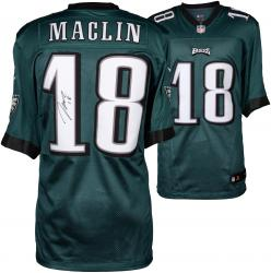 Jeremy Maclin Philadelphia Eagles Autographed Nike Limited Green Jersey
