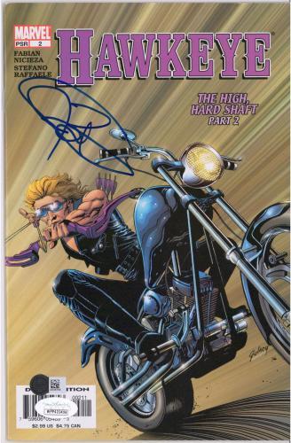 Jeremy Renner Hawkeye Autographed The High Hard Shaft Part 2 Comic Book - JSA