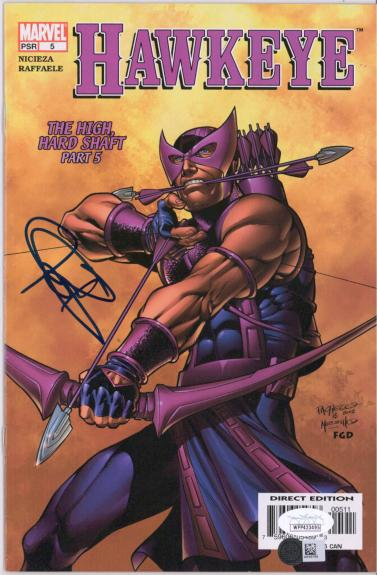 Jeremy Renner Hawkeye Autographed The High Hard Shaft Part 5 Comic Book - JSA