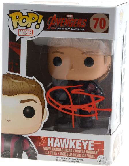 Jeremy Renner Marvel Hawkeye Autographed #70 Funko Pop! - JSA