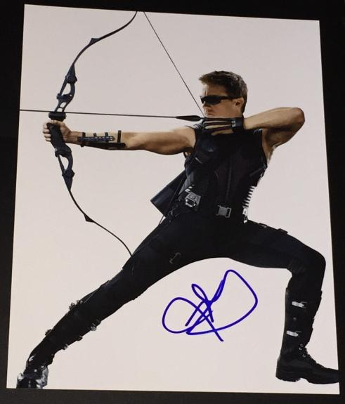 """Jeremy Renner Signed Autograph """"avengers 2 Age Of Ultron"""" Action 11x14 Photo Coa"""