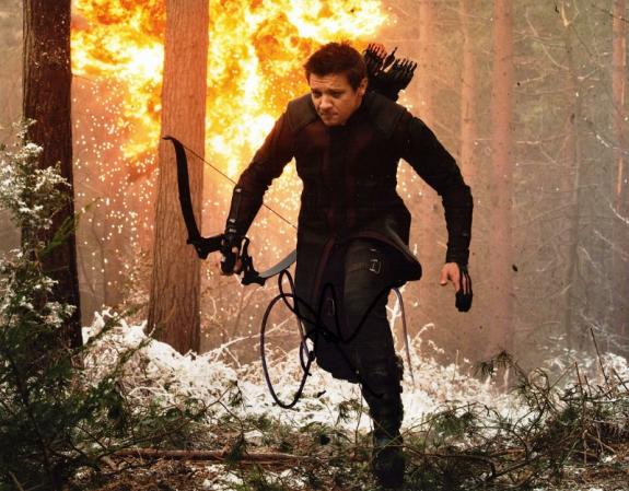 Jeremy Renner Signed - Autographed Hawkeye - Avengers 11x14 inch Photo - Guaranteed to pass BAS
