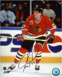 Jeremy Roenick Chicago Blackhawks Autographed 8'' x 10'' Action Photograph - - Mounted Memories