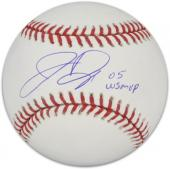 """Jermaine Dye Chicago White Sox Autographed Baseball with """"05 World Series MVP"""" Inscription"""