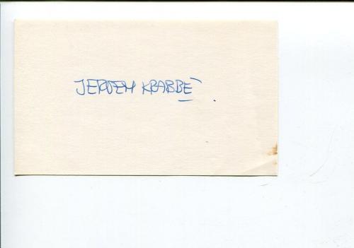 Jeroen Krabbe James Bond Villian Robin Hood Signed Autograph