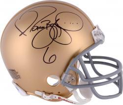 Jerome Bettis Notre Dame Autographed Authentic Riddell Mini Helmet