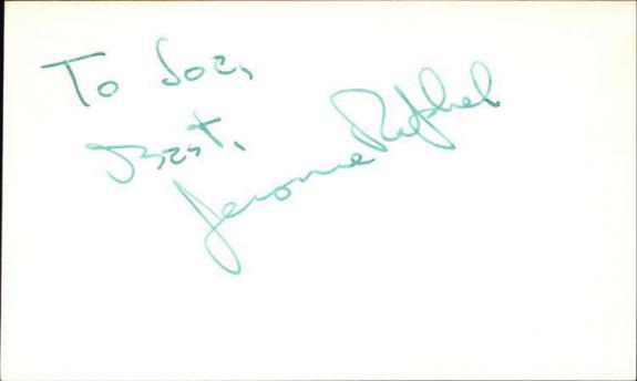 "Jerome Raphael D.2012 Actor Get Smart Signed 3"" x 5"" Index Card"