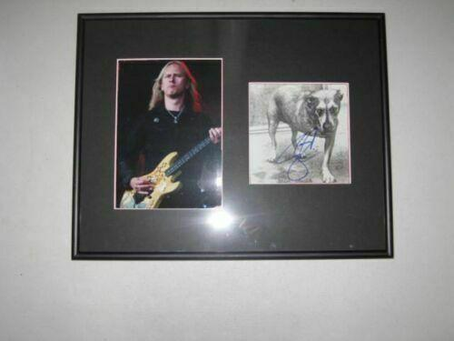 Jerry Cantrell Alice in Chains Signed Framed Matted CD Book 5x7 Photo Hologram