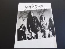Jerry Cantrell Mike Inez AIC Signed 8.5x11 Paper Photo PSA Beckett Guaranteed