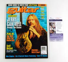 Jerry Cantrell Signed Guitar Magazine Alice in Chains 1998 JSA Auto