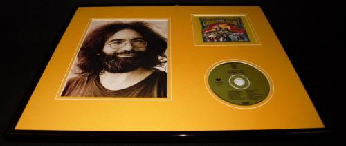 Jerry Garcia 16x20 Framed Grateful Dead CD & Photo Display