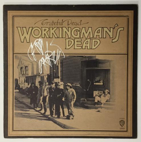 Jerry Garcia Autographed Grateful Dead Album signed Workingman's Beckett BAS LOA