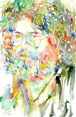 Jerry Garcia Watercolor Portrait - 6x9 SM Holo