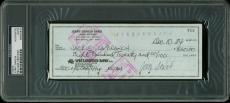 Jerry Garcia Grateful Dead Signed 3x8.25 1984 Check PSA/DNA Slabbed