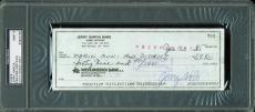 Jerry Garcia Greatful Dead Signed 1985 check Auto Graded Mint 9! PSA Slabbed