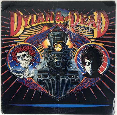Jerry Garcia Signed Autographed Dylan & The Dead Album JSA Grateful Dead