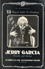 Jerry Garcia Signed Autographed NYC Lunt Fontanne Theatre Poster Beckett BAS