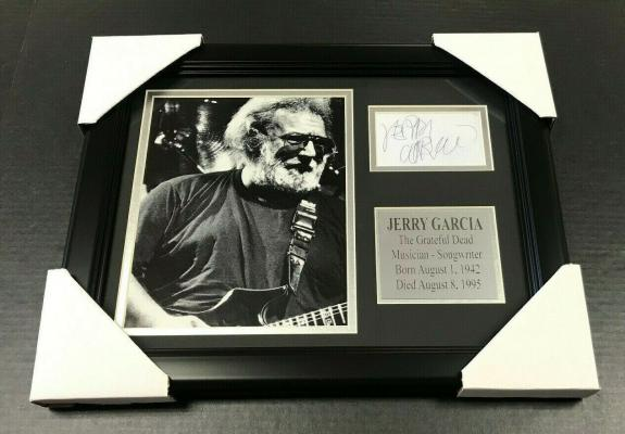 Jerry Garcia The Grateful Dead Autographed Reprint Framed 8x10 Magazine Photo